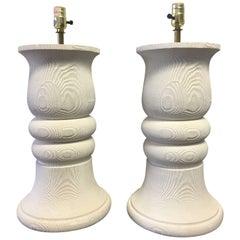 John Dickinson Style Large Pair of Plaster Lamps, Bon Art 1980