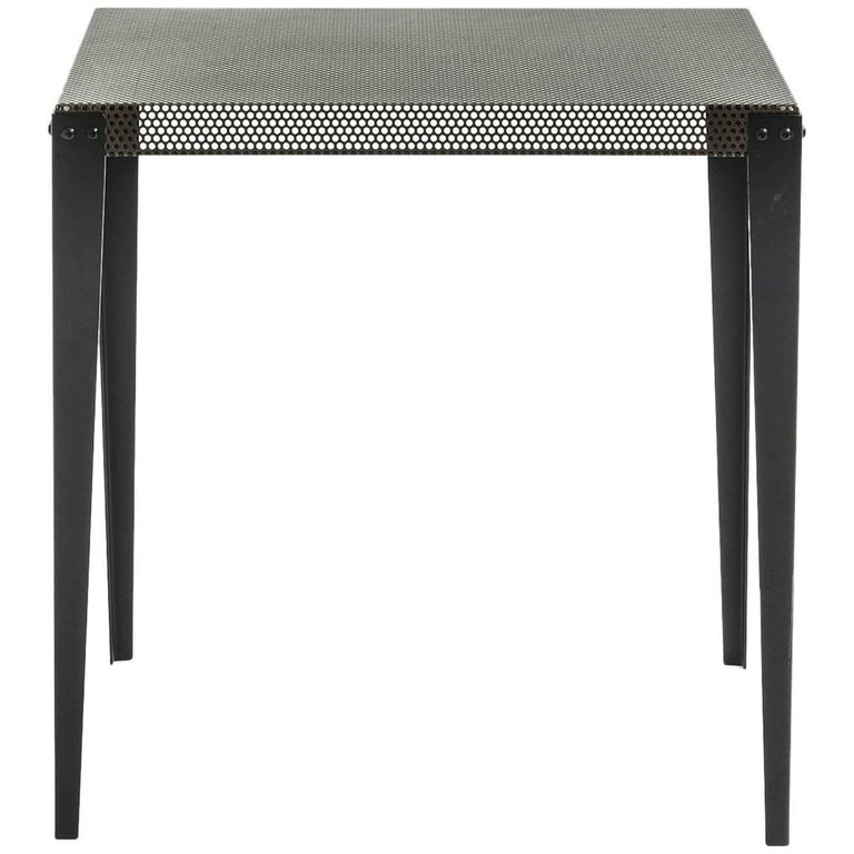 """Nizza"" Copper Varnished Perforated Steel Top Square Table by Moroso, Diesel For Sale"