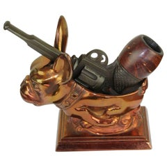 Vintage French Smoking Gun Pipe with Removable Bowl