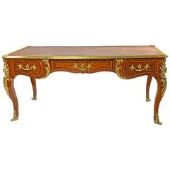 19th Century French Bureau Plat Desk in the Louis XV Manner