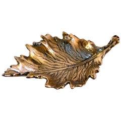 Mid Century Bronze Trinket Tray Italy