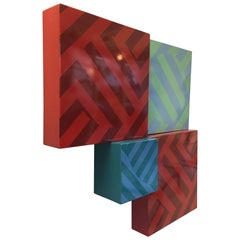 Op-Art Enamel on Metal Wall Sculpture from Chrysler Museum