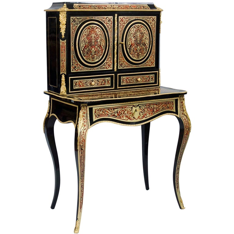 "19th century French Boulle marquetry ""BONHEUR DU JOUR""  lady's desk"