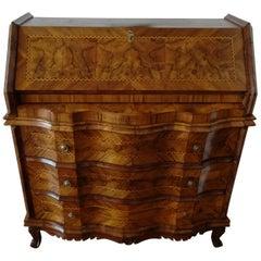 20th century light brown walnut italian cabinet