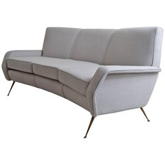 Gigi Radice Designed Curved Sofa, Italy 1950