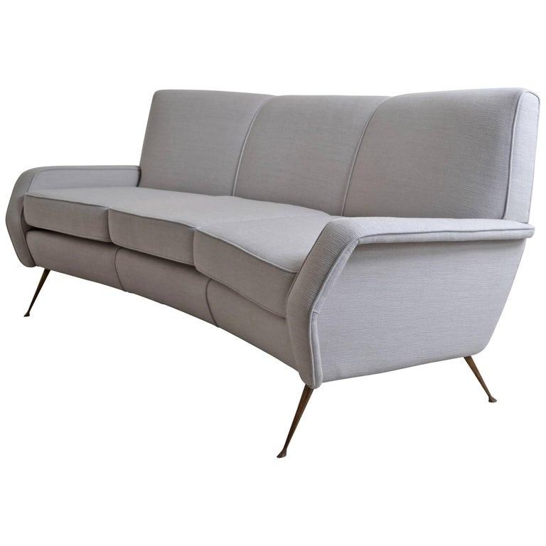Gigi Radice Designed Curved Sofa Italy 1950 For