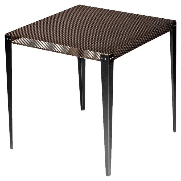 """Nizza"" Copper Varnished Perforated Steel Top Square Table by Moroso, Diesel"