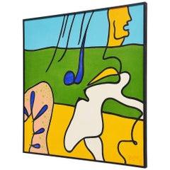 Jules Bekker 'de Rose Rups' Painting on Canvas, 1975
