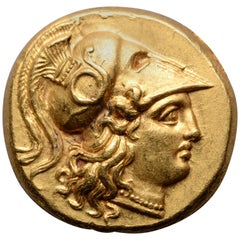 Ancient Gold Alexander the Great Stater Coin, 323 BC