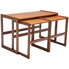 Midcentury Nesting Tables by Arne Hovmand Olsen for Mogens Kold, Denmark