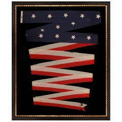 U.S Navy Commission Homeward Bound Pennant with 14 Stars, Made by El Rowe & Sons