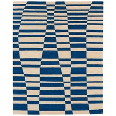 Angela Adams Mack, Blue Area Rug, 100% New Zealand Wool, Hand-Knotted, Modern