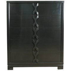 Ebonized 1940s Tall Chest by Modernage