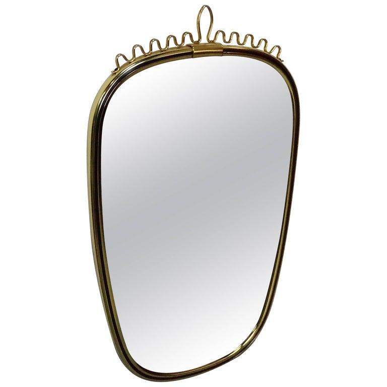 Italian Design Of The 50's Brass Mirror
