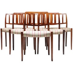 Niels O Moller Rosewood Dining Chairs, Model 83, Set of Six, Denmark
