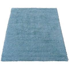 Carpet in blue Petrol Wool , 1950's