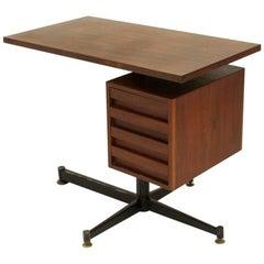 Italian modernist teak Desk, 1950s