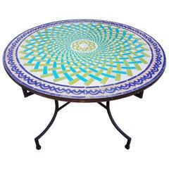 Moroccan Mosaic Table, Multi-Color Beldia