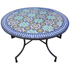 Moroccan Mosaic Table, Multi-Color Beldia