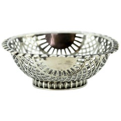 Victorian solid silver bonbon dish - William Comyns & Sons - London - 1895