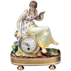 Rare Vienna Porcelain Boudoir Clock