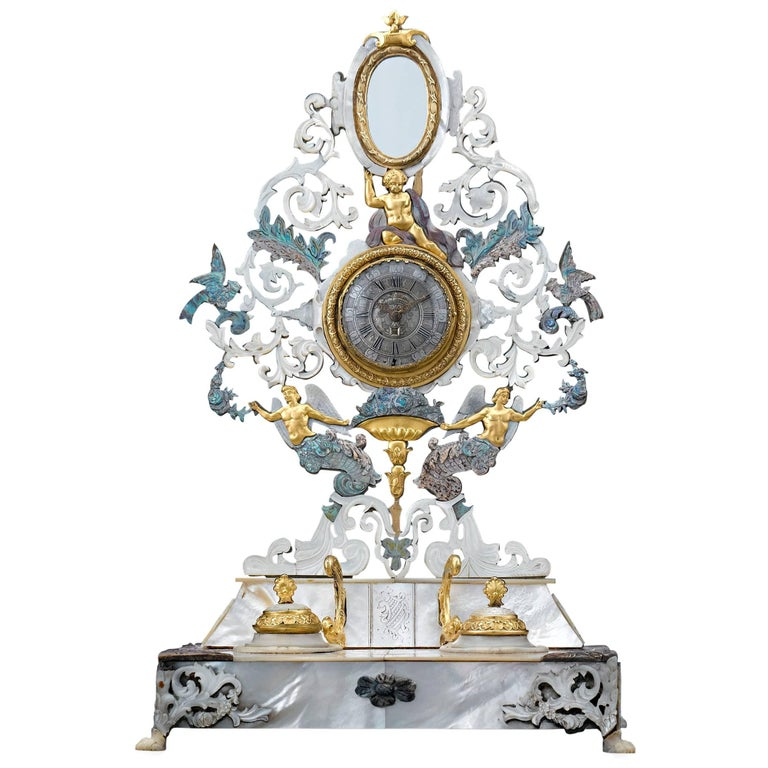 19th Century Palais Royal Inkwell and Watch Holder
