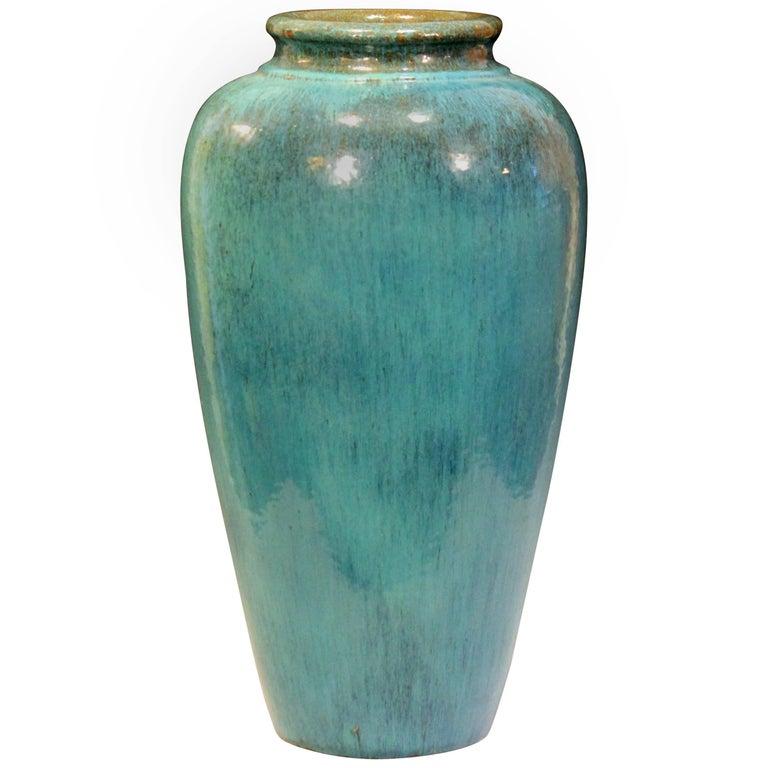 Big Rrp Co Robinson Ransbottom Roseville Garden Urn Pottery Porch