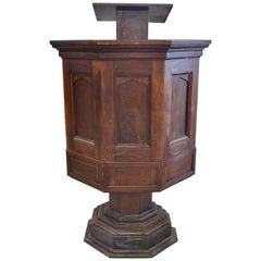 Early 20th Century Walnut Pulpit