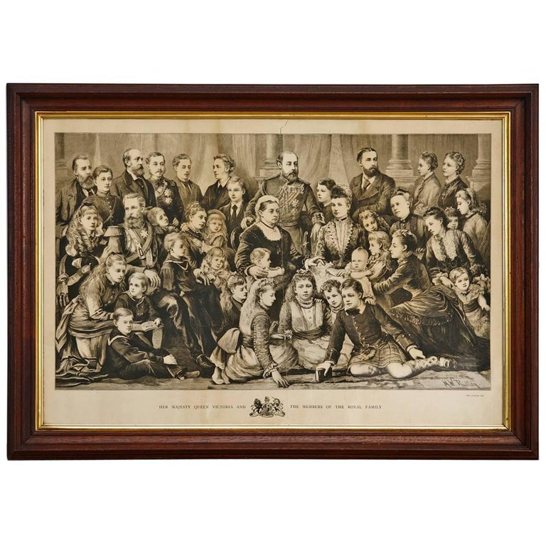 Her Majesty Queen Victoria and Members of the Royal Family Engraving