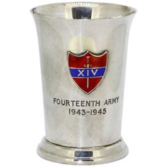 "Limited Edition Sterling Silver and Enamel ""Fourteenth Army"" Salver"