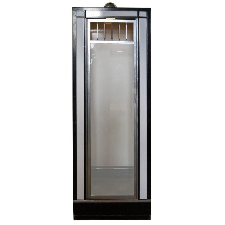 Rare Black and White Art Deco Enameled Shower