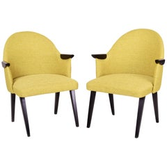 Restored pair of Czechoslovakia MidCentury Arm-chairs 1950-1960