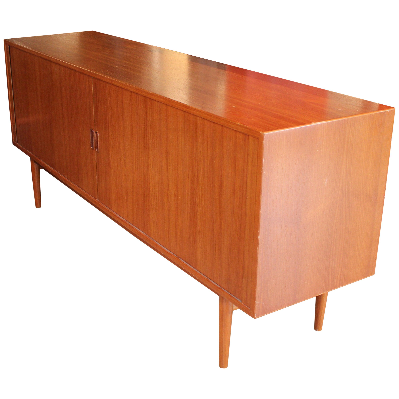 Modern Arne Vodder For Sibast Furniture Tambor Door Teak Credenza