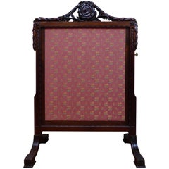 Dutch Louis XVI Mahogany Fire Screen