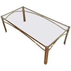 Mid-Century Modern Coffee Table Attributed to Jacques Quinet for Mason Malbert