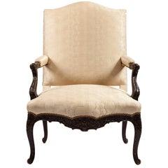 George III Mahogany Library Chair