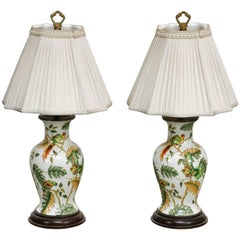 Pair of Chinoiserie Ginger Jar Table Lamps by Bradburn