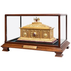 19th Century Silver Gilt Presentation Casket Awarded to Alderman Abel Heywood