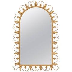 Decorative Gold Gilt Leaf Wall Mirror