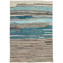 Modern Moroccan Room Size Area Rug