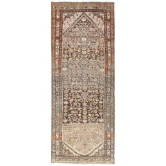 Geometric Design Antique Tribal Malayer Persian Runner Rug
