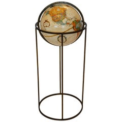 Midcentury Globe on Brass Swivel Stand after Paul McCobb, USA