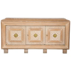 French Art Deco Cerused Oak Sideboard or Buffet