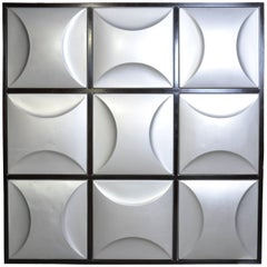 Set of Nine Aluminum Wall Panels