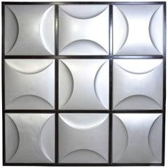 Set of Nine Aluminum Wall Panels