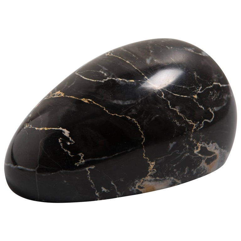 Black Marble Paperweight with Mouse Shape For Sale