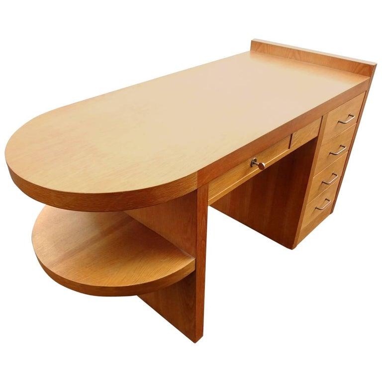 Art Deco Oak Desk For Sale