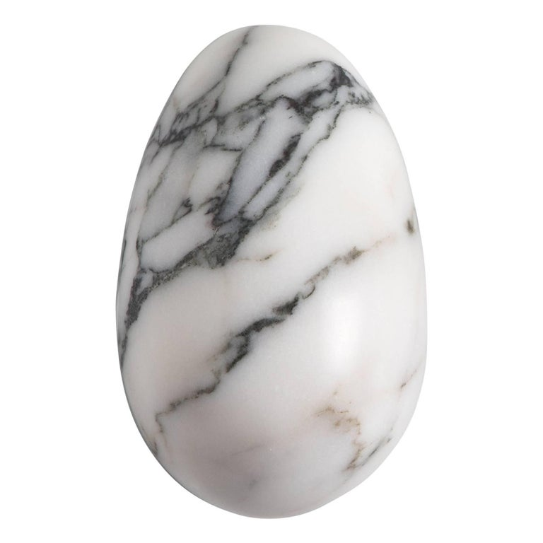 Paonazzo Marble Paperweight with Mouse Shape For Sale