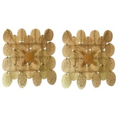 Pair of Sconces Murano Glass by Vistosi, Italy, 1970s
