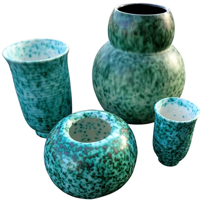 Set of Four Vases from Elchinger, France  For Sale